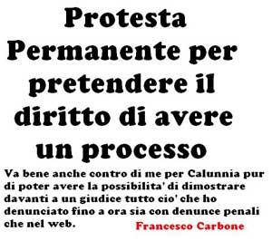 SOLIDARIETA' a FRANCESCO CARBONE!!